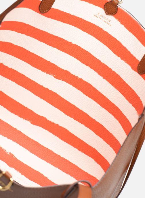 Handtaschen Lauren Ralph Lauren REVERSIBLE TOTE braun ansicht von links