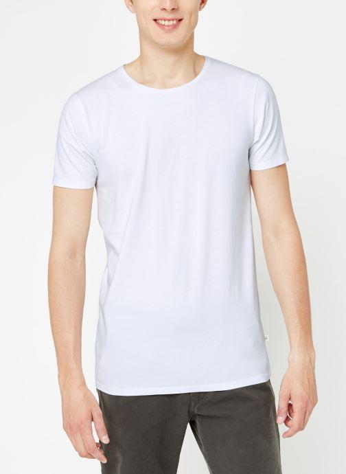 Vêtements Scotch & Soda Classic cotton/lycra crewneck tee Blanc vue droite
