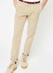 Slim fit cotton/elastan garment dyed chino pant