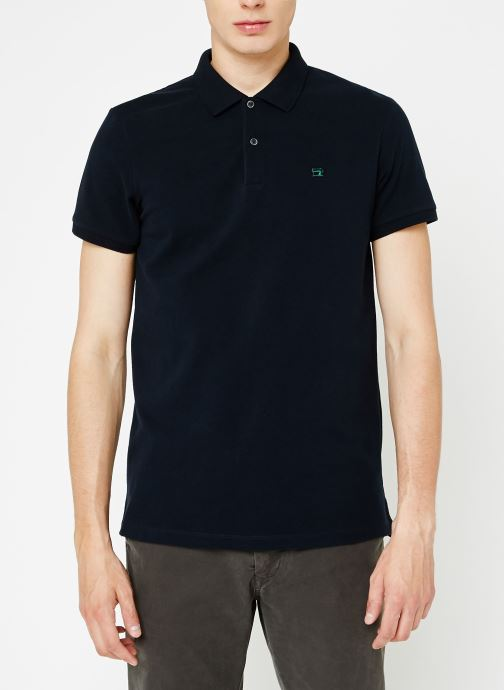 Vêtements Scotch & Soda Classic polo in pique quality with clean outlook Bleu vue droite