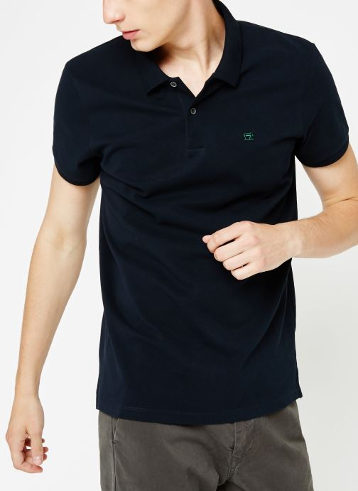 Vêtements Scotch & Soda Classic polo in pique quality with clean outlook Bleu vue détail/paire