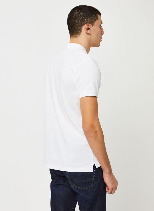 Vêtements Scotch & Soda Classic polo in pique quality with clean outlook Blanc vue portées chaussures