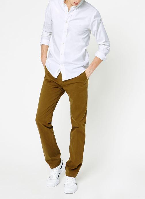 Vêtements Scotch & Soda Shirt with contrast details Blanc vue bas / vue portée sac