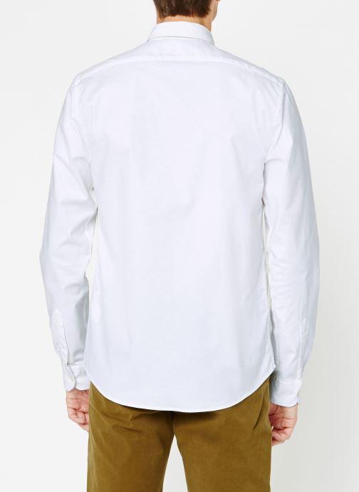 Vêtements Scotch & Soda Shirt with contrast details Blanc vue portées chaussures