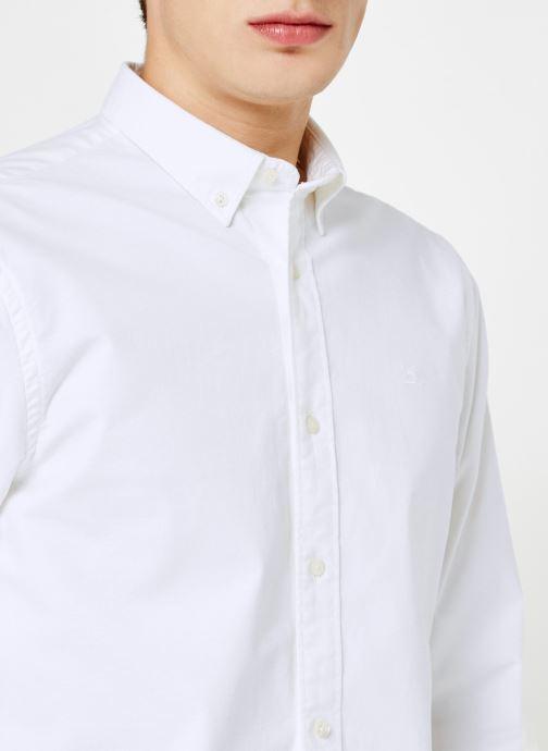 Vêtements Scotch & Soda Shirt with contrast details Blanc vue face