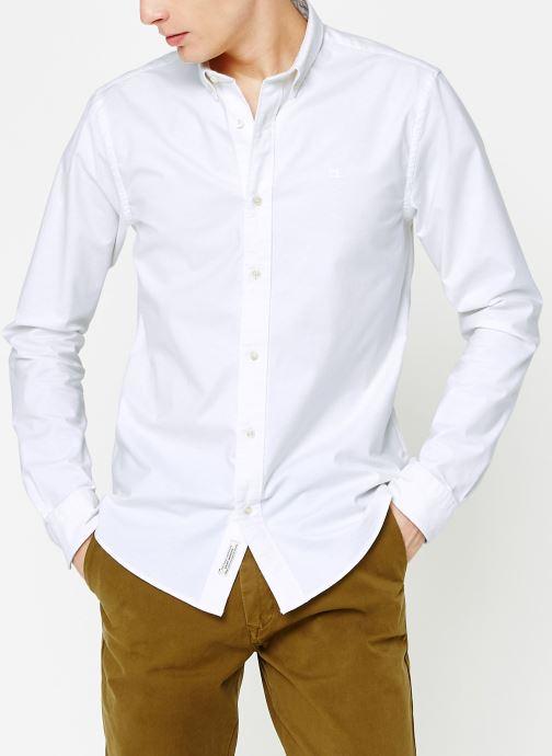 Vêtements Scotch & Soda Shirt with contrast details Blanc vue droite