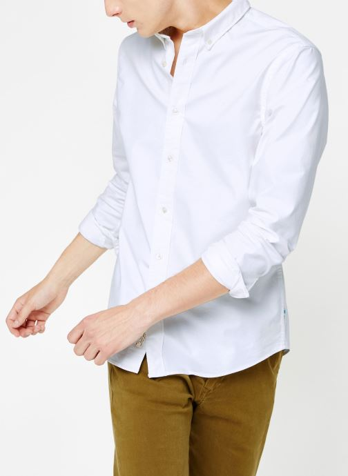 Vêtements Scotch & Soda Shirt with contrast details Blanc vue détail/paire