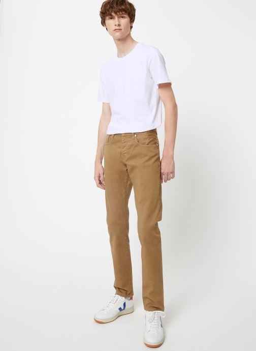 Vêtements Scotch & Soda Ralston - Clean garment dye colours Beige vue bas / vue portée sac