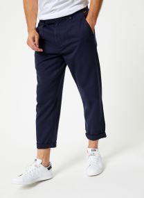 Relaxed chino with crop leg garment dyed
