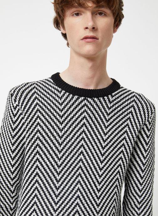 Vêtements Scotch & Soda Crewneck with oversized knit patterns Noir vue face