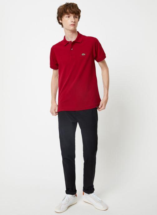 Vêtements Lacoste L1212-00 Bordeaux vue bas / vue portée sac