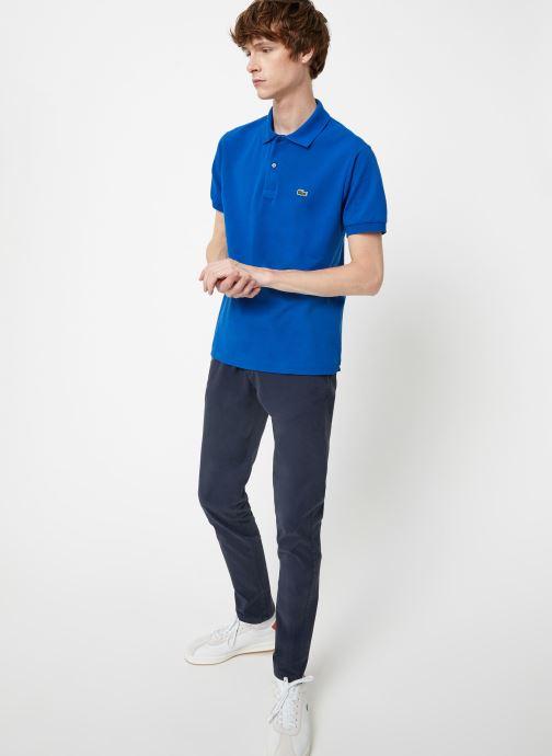 Vêtements Lacoste Polo Classique L1212 Manches Courtes Bleu vue bas / vue portée sac