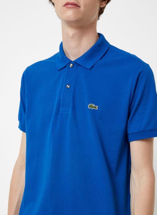 Vêtements Lacoste Polo Classique L1212 Manches Courtes Bleu vue face