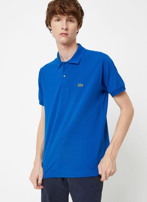 Vêtements Lacoste Polo Classique L1212 Manches Courtes Bleu vue détail/paire