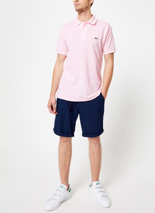 Vêtements Lacoste Polo Classique L1212 Manches Courtes Rose vue bas / vue portée sac