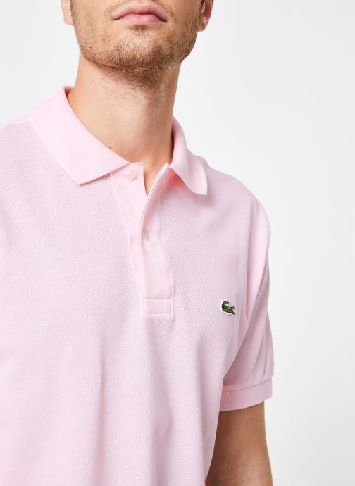 Vêtements Lacoste Polo Classique L1212 Manches Courtes Rose vue face