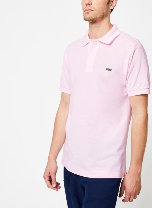 Vêtements Lacoste Polo Classique L1212 Manches Courtes Rose vue droite