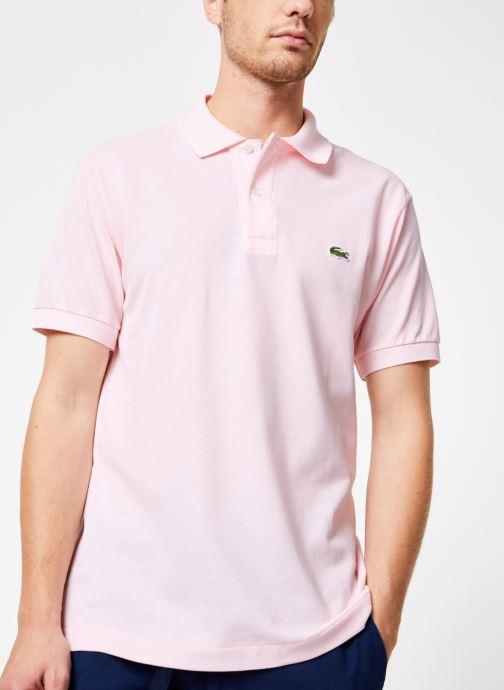 Vêtements Lacoste Polo Classique L1212 Manches Courtes Rose vue détail/paire