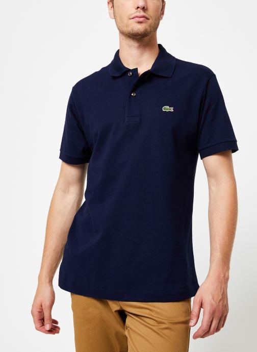 Vêtements Lacoste Polo Classique L1212 Manches Courtes Bleu vue droite