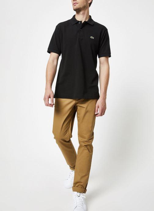 Vêtements Lacoste Polo Classique L1212 Manches Courtes Noir vue bas / vue portée sac