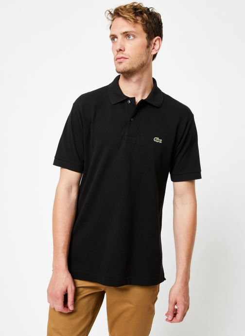 Vêtements Lacoste Polo Classique L1212 Manches Courtes Noir vue droite