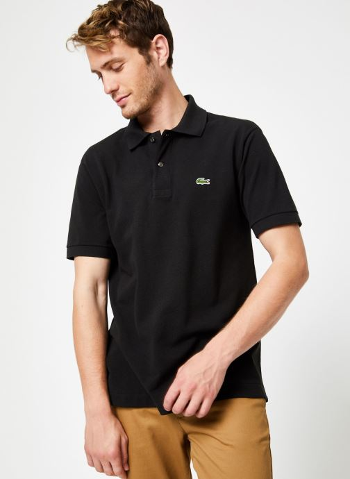 Vêtements Lacoste Polo Classique L1212 Manches Courtes Noir vue détail/paire