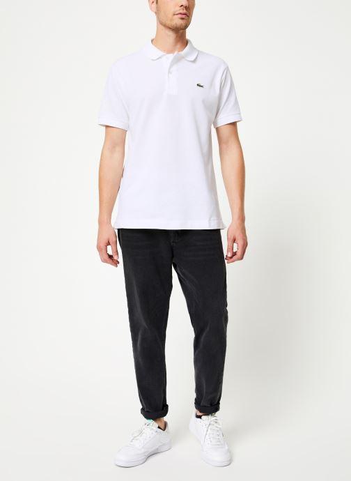Vêtements Lacoste Polo Classique L1212 Manches Courtes Blanc vue bas / vue portée sac