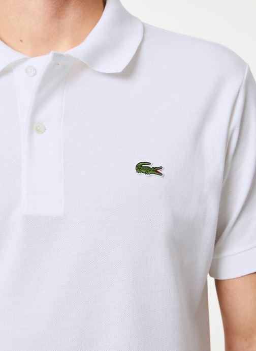 Vêtements Lacoste Polo Classique L1212 Manches Courtes Blanc vue face