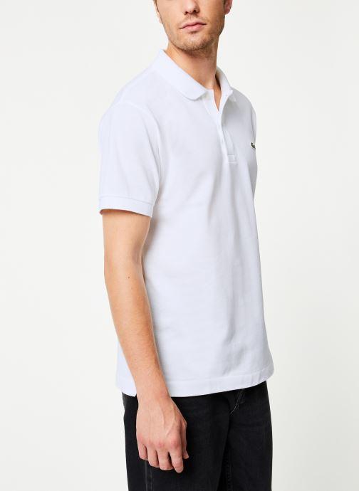 Vêtements Lacoste Polo Classique L1212 Manches Courtes Blanc vue droite