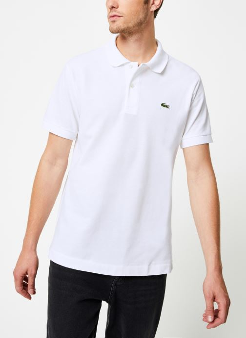 Vêtements Lacoste Polo Classique L1212 Manches Courtes Blanc vue détail/paire