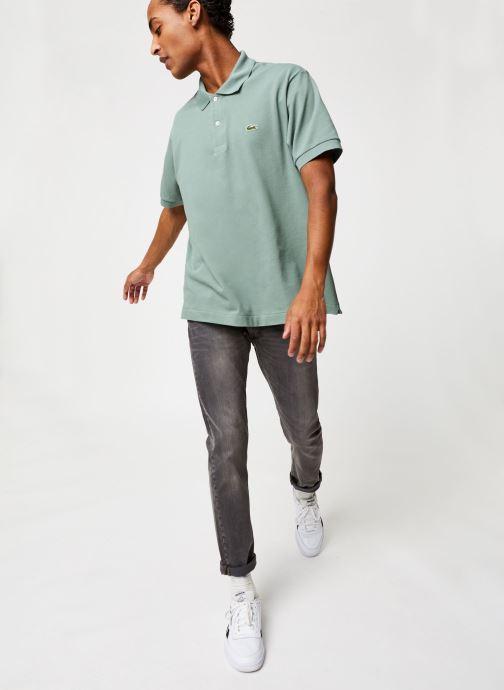 Vêtements Lacoste Polo Classique L1212 Manches Courtes Vert vue bas / vue portée sac
