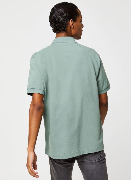 Vêtements Lacoste Polo Classique L1212 Manches Courtes Vert vue portées chaussures