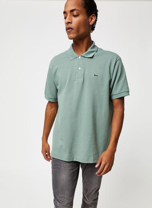 Vêtements Lacoste Polo Classique L1212 Manches Courtes Vert vue droite