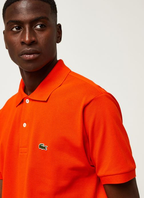 Vêtements Lacoste Polo Classique L1212 Manches Courtes Rouge vue face