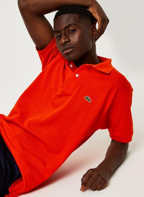 Vêtements Lacoste Polo Classique L1212 Manches Courtes Rouge vue détail/paire