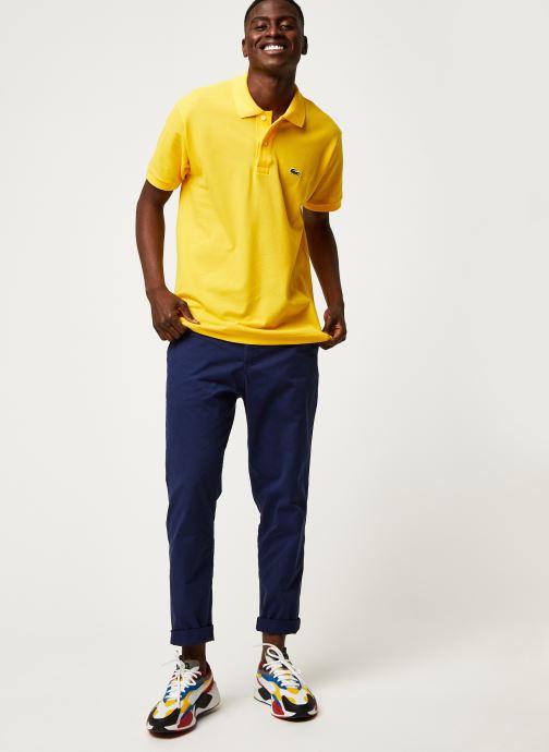 Vêtements Lacoste Polo Classique L1212 Manches Courtes Jaune vue bas / vue portée sac