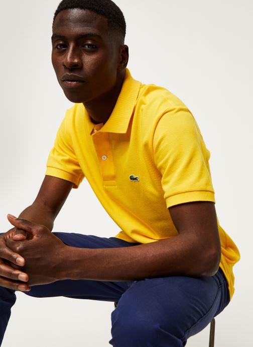 Vêtements Lacoste Polo Classique L1212 Manches Courtes Jaune vue détail/paire