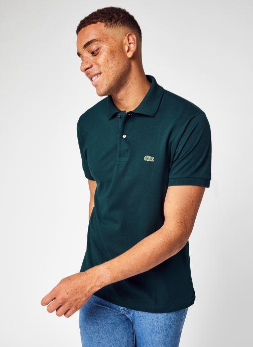 Vêtements Lacoste Polo Classique L1212 Manches Courtes Vert vue détail/paire