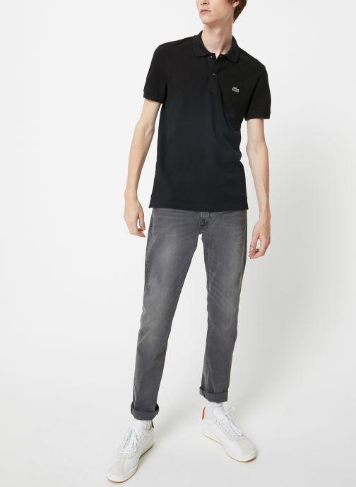 Vêtements Lacoste Polo PH4012 Slim Fit Manches Courtes Noir vue bas / vue portée sac