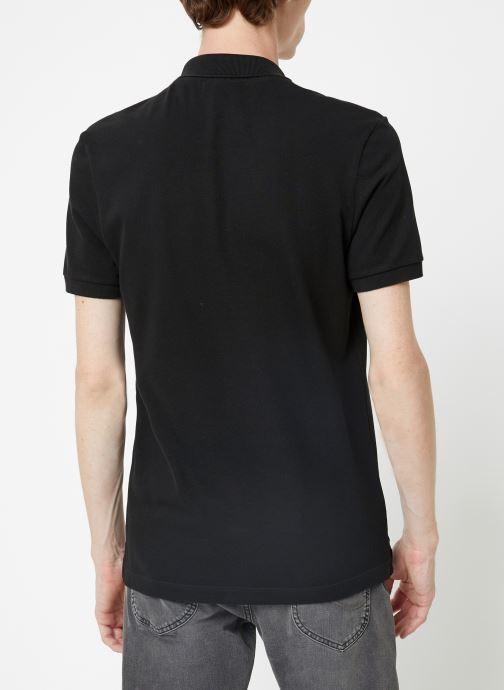 Vêtements Lacoste Polo PH4012 Slim Fit Manches Courtes Noir vue portées chaussures