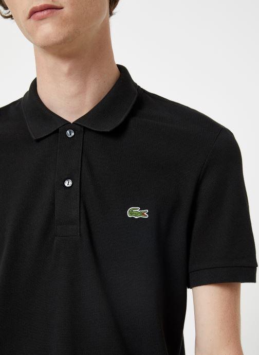 Vêtements Lacoste Polo PH4012 Slim Fit Manches Courtes Noir vue face