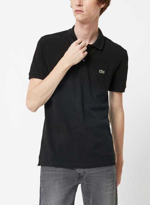 Vêtements Lacoste Polo PH4012 Slim Fit Manches Courtes Noir vue droite