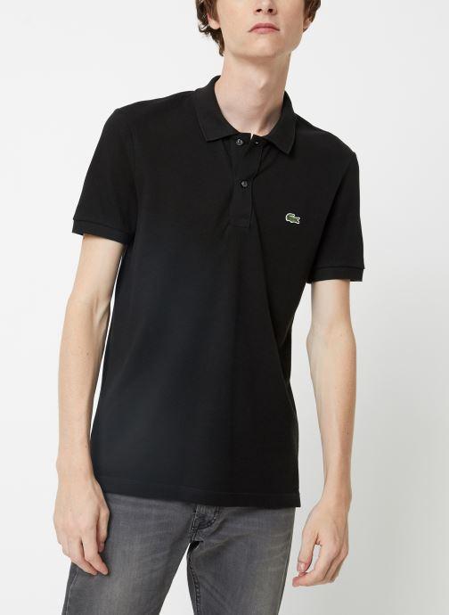 Vêtements Lacoste Polo PH4012 Slim Fit Manches Courtes Noir vue détail/paire