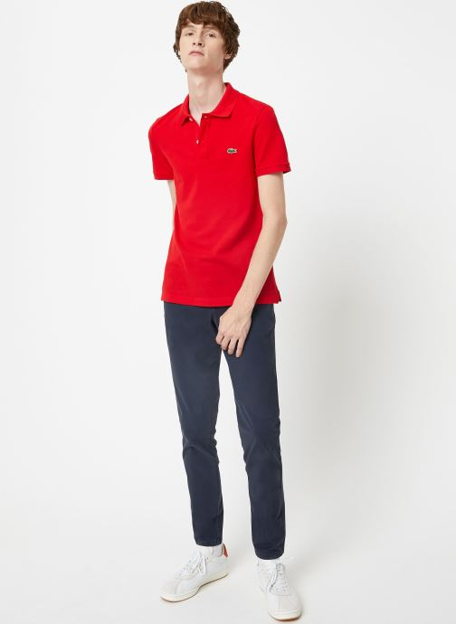 Kleding Lacoste Polo PH4012 Slim Fit Manches Courtes Rood onder