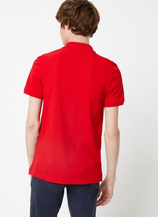 Kleding Lacoste Polo PH4012 Slim Fit Manches Courtes Rood model