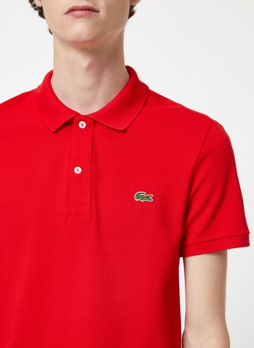 Kleding Lacoste Polo PH4012 Slim Fit Manches Courtes Rood voorkant