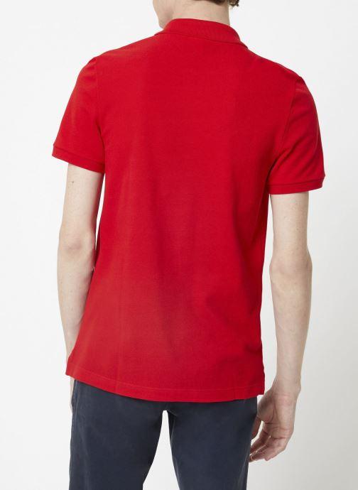 Vêtements Lacoste Polo PH4012 Slim Fit Manches Courtes Rouge vue face