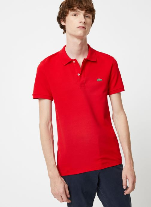 Kleding Lacoste Polo PH4012 Slim Fit Manches Courtes Rood rechts