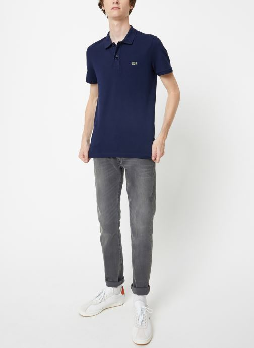 Tøj Lacoste Polo PH4012 Slim Fit Manches Courtes Blå se forneden