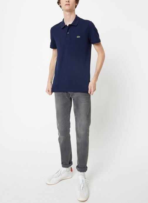 Vêtements Lacoste Polo PH4012 Slim Fit Manches Courtes Bleu vue bas / vue portée sac